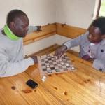 zum ersten Mal wird das Schach-matt ausprobiert
